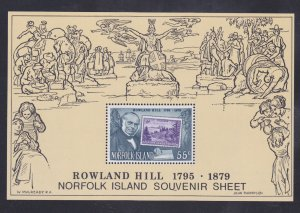 Norfolk Island Stamps: 1979 Rowland Hill Issue; #248a; 55c Souvenir Sheet/1 MNH