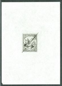 LIBERIA #8P 12¢ w/frame line, Designer Proof in black
