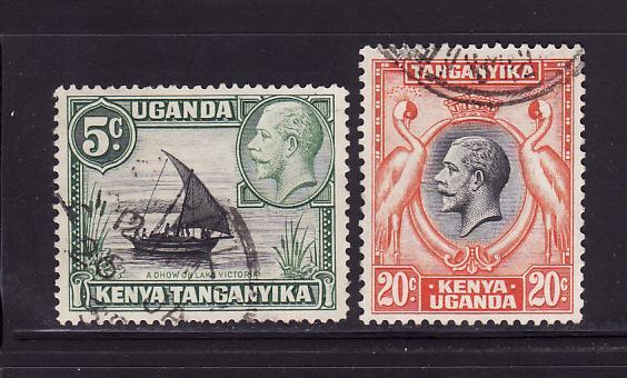 Kenya, Uganda, Tanzania 47, 50 U King George V (D)