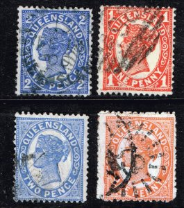 QUEENSLAND STAMP USED STAMPS COLLECTION LOT