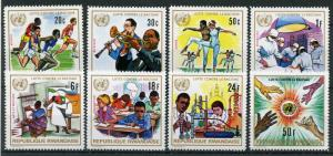 Rwanda 1972 MNH Fight Against Racism UN Racial Equality Year 8v Set Stamps