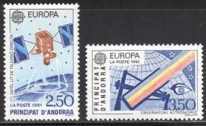 French Andorra #403-404 1991 Europa Set MNH