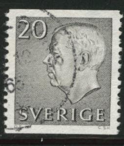 SWEDEN Gustaf VI stamp Scott 582 used CV $0.75