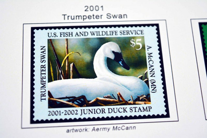 COLOR PRINTED US JUNIOR DUCK STAMPS 1992-2020 STAMP ALBUM PAGES (21 ill. pages)