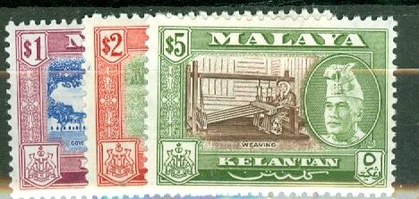 Malaya Kelantan 72-82 mint CV $61.30, scan shows only a few