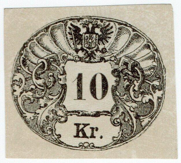 (I.B) Austria/Hungary Revenue : Stempelmarke 10kr (impressed duty)