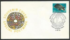 PAPUA NEW GUINEA 1972 cover LIONS INTERNATIONAL commem cancel..............59691