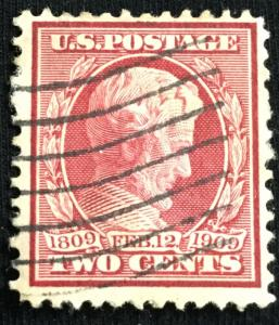 US #367 Used Single Abraham Lincoln SCV $2.00 L3