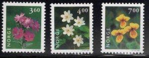 Norway Scott 1210-1212 MNH** Flower set 1999
