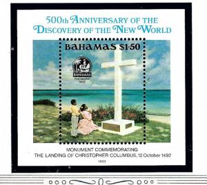 Bahamas 753 MNH 1992 Discovery of New World 500th Anniversary S/S