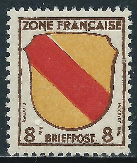 Germany - Allied Occupation - French Zone, Sc #4N4, MH