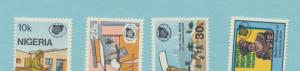 Nigeria Scott #433 To 436, Mint Never Hinged MNH, World Communications Year I...