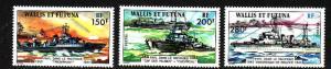 Wallis & Futuna-Sc#207-9-unused NH set-Free French Warships-1978-