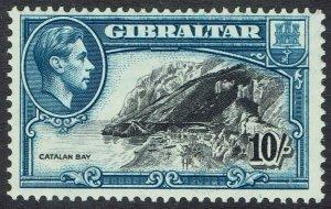 GIBRALTAR 1938 KGVI CATALAN BAY 10/- PERF 13 MNH **