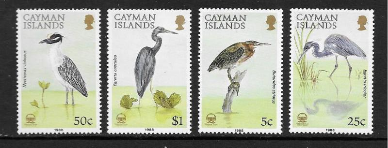 Cayman Is. #594-597  Mint H