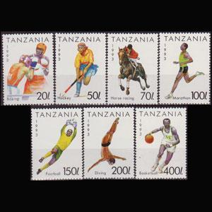 TANZANIA 1992 - Scott# 1018-24 Sports Set of 7 NH