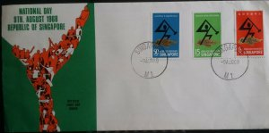 Singapore 1968 National Day Republic of Singapore FDC M1 CDS with Insert