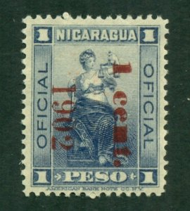 Nicaragua 1901 Official MNG Red Ovpt BIN = $1.50