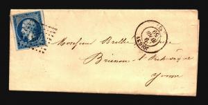 France 1859 Letter Cover / Joigne CDS - Z15718