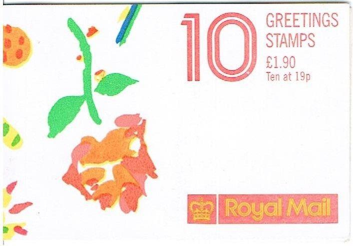 GREAT BRITAIN 1989 - GREETINGS STAMPS BOOKLET - 10 x 19p  STAMPS