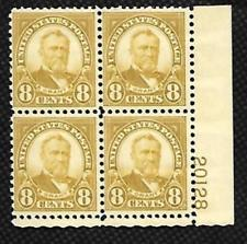 SCOTT # 640 MINT NEVER HINGED PLATE BLOCK 8 CENT GRANT GEM VERY DESIRABLE !!