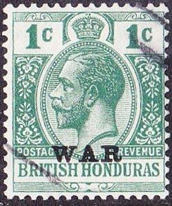 BRITISH HONDURAS 1917KGV 1 Cent Blue-Green SG116Fine Used