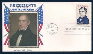 UNITED STATES FDC 22¢ William Harrison 1986 Colorano