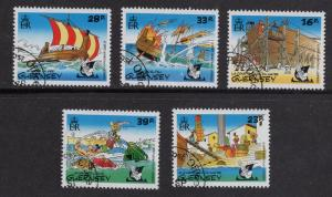 Guernsey   #498-502   1992  cancelled  Asterix