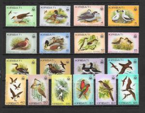 BIRDS - Kiribati #384-399