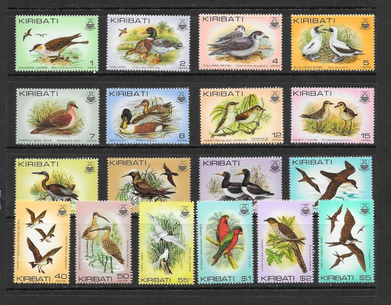BIRDS - Kiribati #384-399