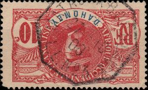 DAHOMEY - 1908 - CAD  MATADI À BORDEAUX / L.L. N°3 SUR 10c FAIDHERBE