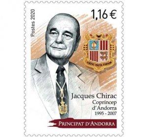 2020 Fr Andorra Jacques Chirac  (Scott 826) MNH