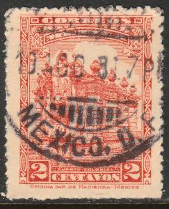 MEXICO 650, 2cents, PUBLIC FOUNTAIN, USED. F-VF. (416)