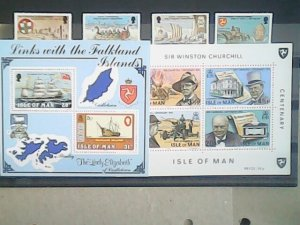Isle of Man  MNH  nice stamps and souvenir sheets