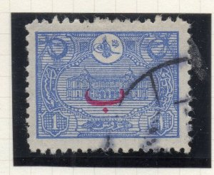 Turkey 1913 Early Issue Fine Used 1p. Optd NW-12155