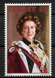 1983 Jersey 268 £5 Queen Elizabeth II by Norman Hepplo MNH