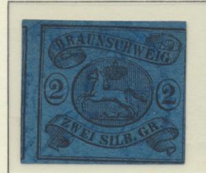 Brunswick (German State) Stamp Scott #9, Used, Light Bluish Cancel - Free U.S...