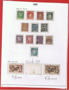 Ireland #65-76  #77 & 77b  VF used   Various Scenes