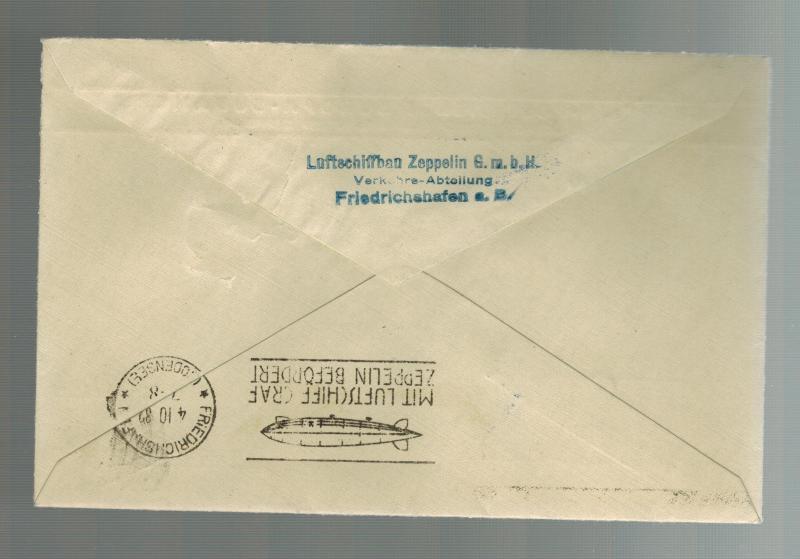 1932 Brazil Graf Zeppelin Condor Cover to Germany # C30 LZ 127