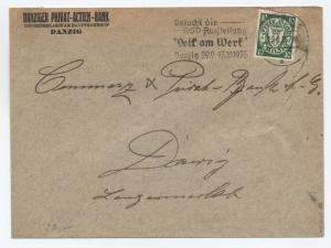 1935 Danzig locally mailed cover Scott 173 [y2372]