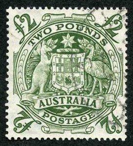 Australia SG224d Two Pound Arms Very Fine Used Cat 16 pounds