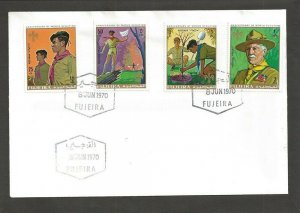 1970 Scouts Fujeira BadenPowell anniversary FDC