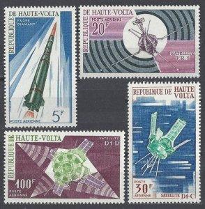 1967 Upper Volta 214-217 Rockets