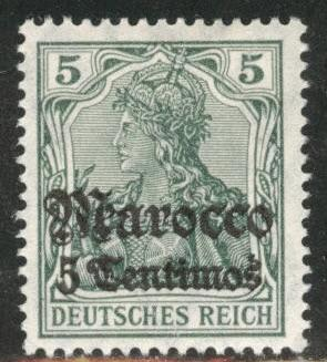 German office in Morocco Scott 34 MH* 1906 stamp CV$6.50