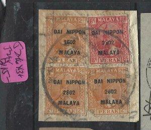 MALAYA JAPANESE OCCUPATION  PERAK (PP1508B) DN 2CX3+8C SG J246X3J248  VFU