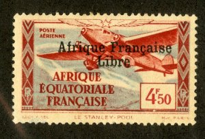 FRENCH EQUATORIAL AFRICA C12 MH SCV $4.00 BIN $1.75 AIRPLANE