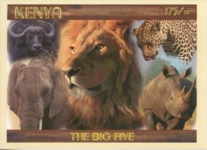 Kenya 2017 Big 5 Lion Leopard Elephant Rhino Buffalo SS, MNH
