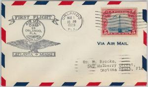 60156 - USA -  First Flight COVER:  ATLANTA - MIAMI: Orlando - AMC: 25 E8