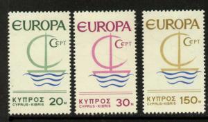 Cyprus 275-7 MNH EUROPA, Symbolic Sailboat