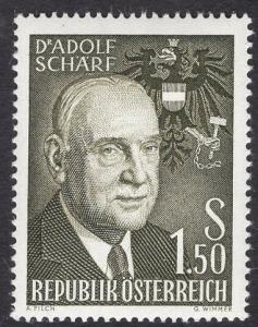 Austria  #651   1960 MNH Adolf Scharf